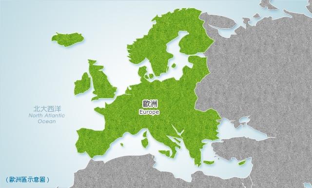 歐洲地區地圖
