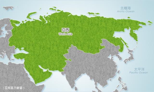 亞西地區地圖
