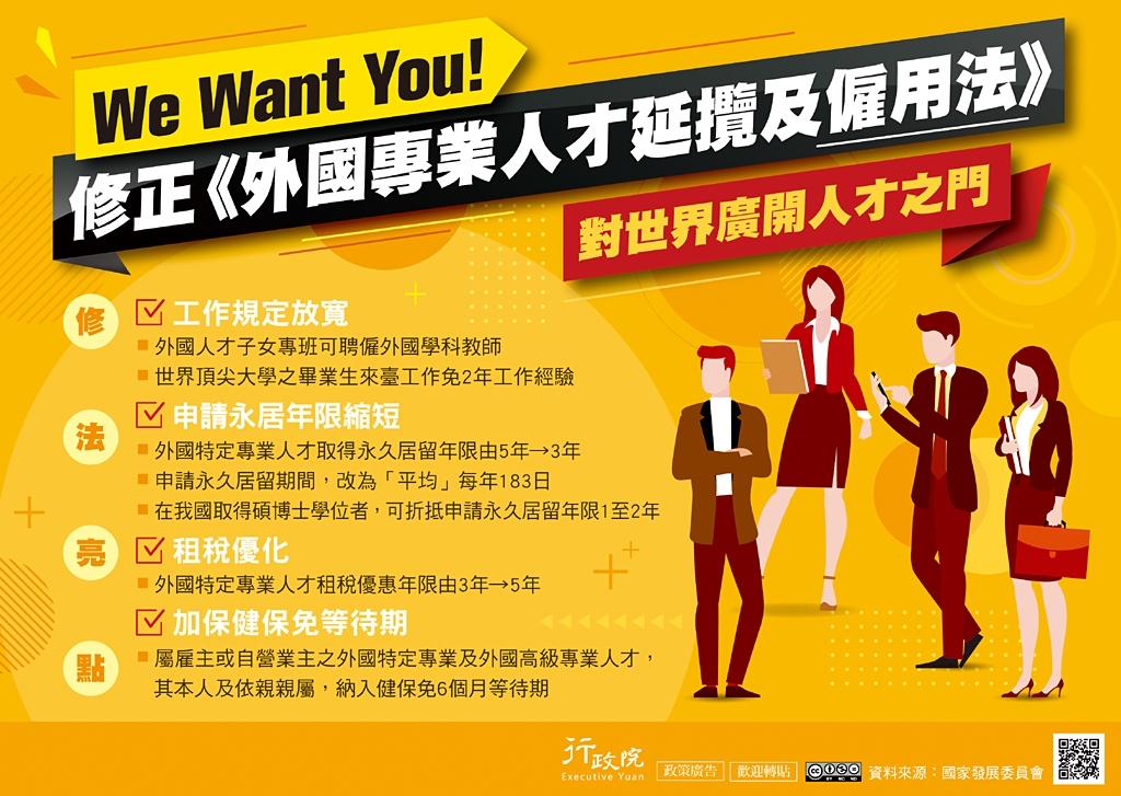 《外國專業人才延攬及僱用法》修正