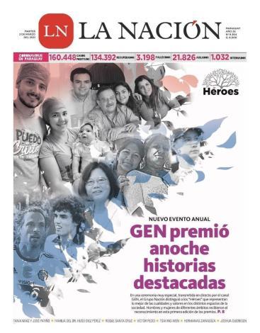 圖說-蔡英文總統獲巴拉圭GEN電視台頒贈友誼英雄獎報導封面。