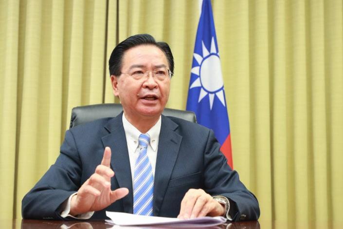 圖說:外交部長吳釗燮於4月30日「聖多納論壇」接受訪談