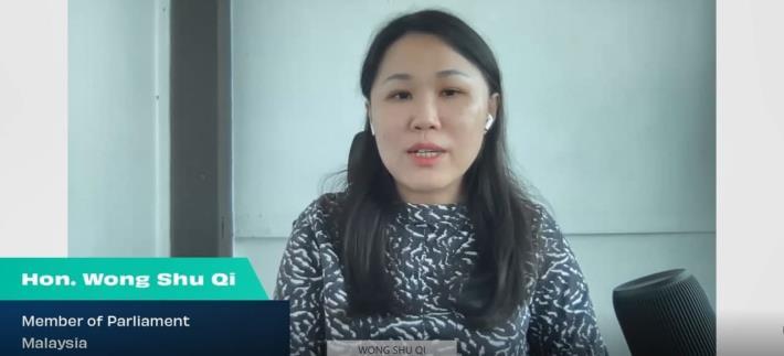 圖說四:馬來西亞國會議員黃書琪(Wong Shu Qi)致詞
