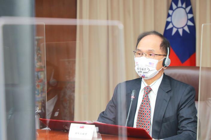圖說一:立法院游院長錫堃出席首屆「台美日國會議員戰略論壇」並致詞。