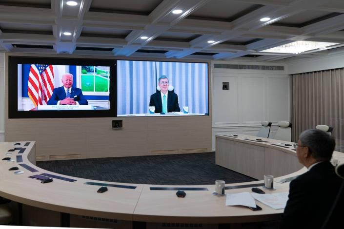 圖說二:陳前副總統建仁代表我國政府應邀出席拜登總統主持的「全球武漢肺炎高峰會」