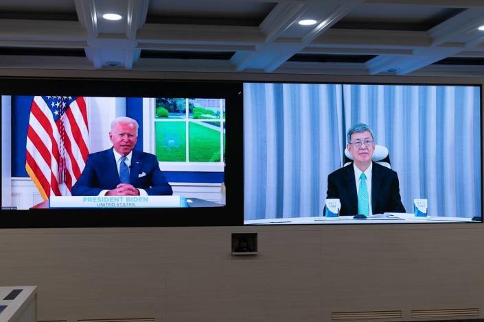 圖說一:美國總統拜登(Joe Biden)主持「全球武漢肺炎高峰會」