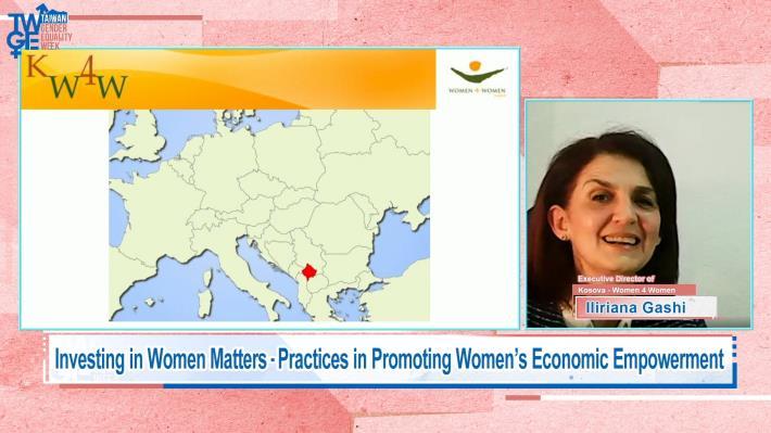 圖說七:女性互助Gashi執行長感謝台灣政府協助科索沃婦女職訓。