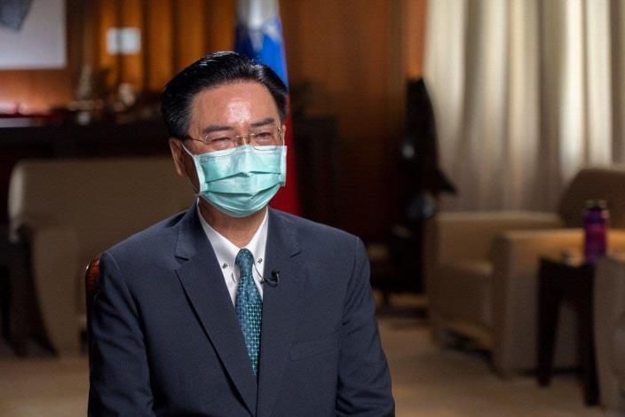 圖說ㄧ:外交部長吳釗燮接受美國「有線電視新聞網國際台」專訪。