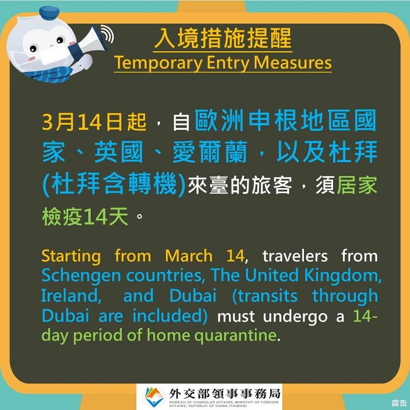 Temporary Entry Measures 20200314