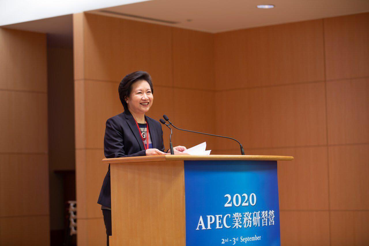 圖說一:外交部主任秘書徐儷文應邀出席2020年APEC業務研習營開幕致詞.jpg